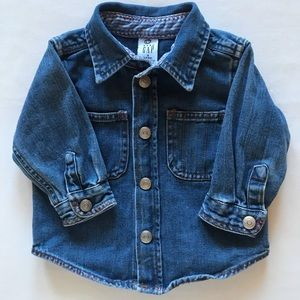 Baby Gap Denim Shirt Snap Front 3-6 months